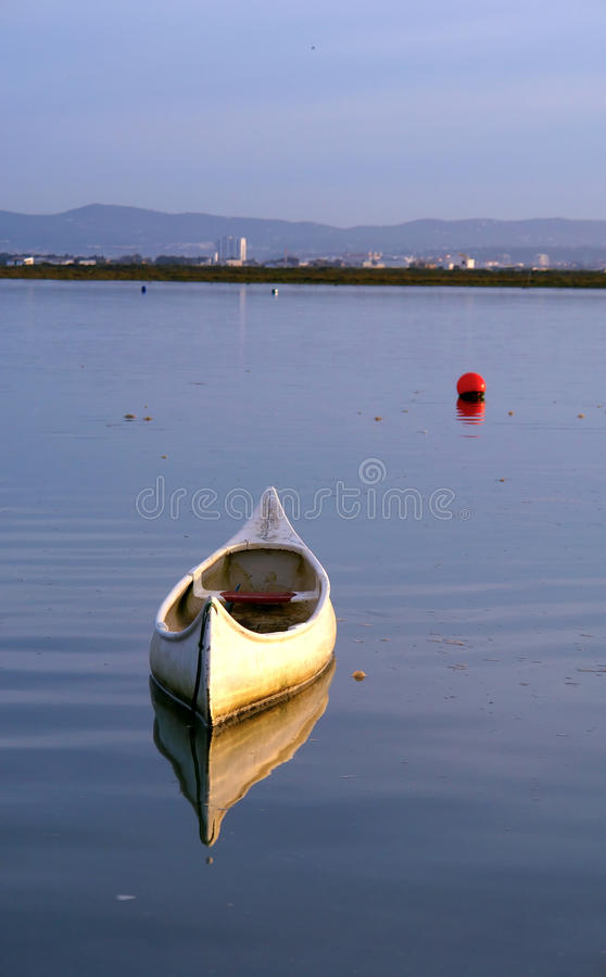 View of Ria Formosa, natural conservation region stock image