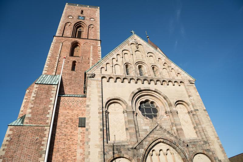 Ribe Cathedral seen from close distance royalty free stock photography