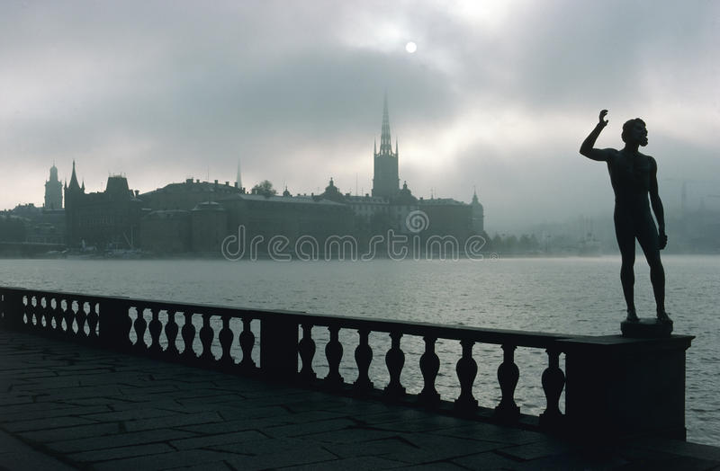 View of Riddarholmen in Stockholm royalty free stock images