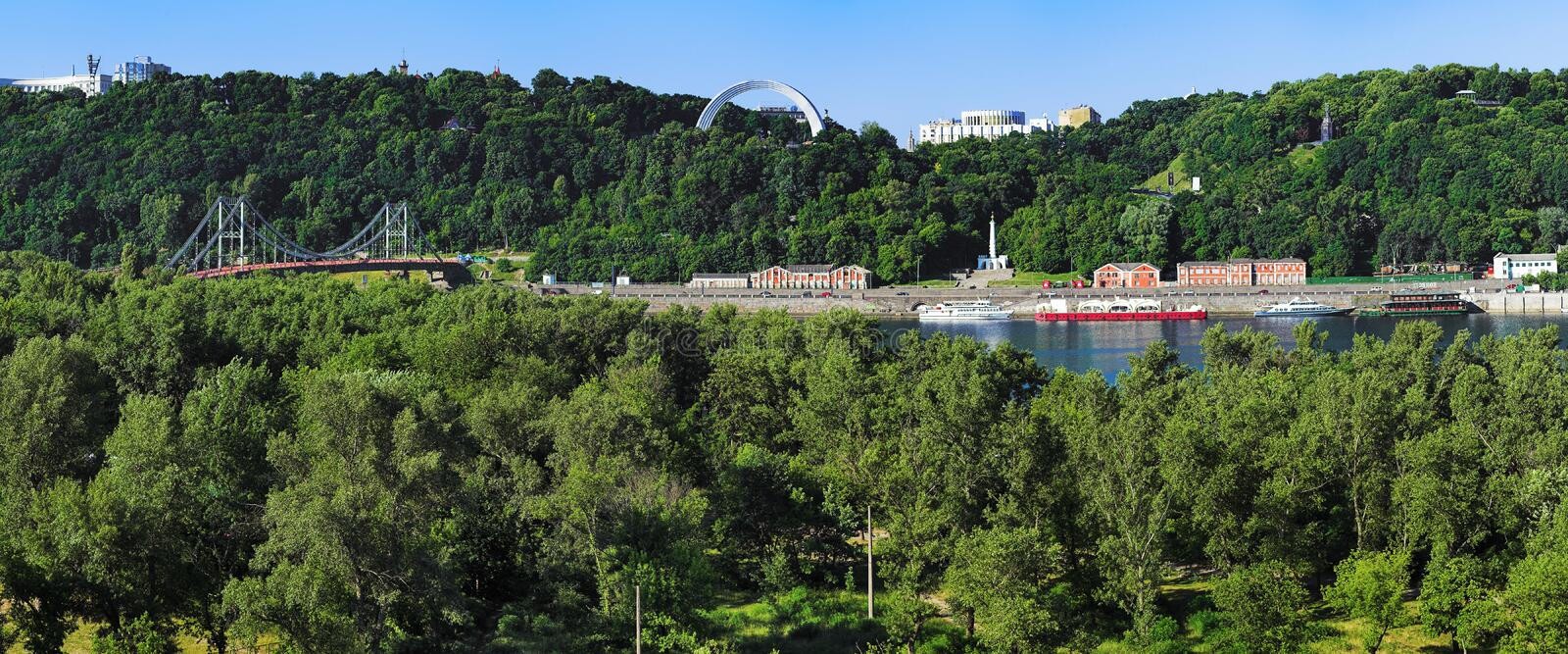 Download View On The Right Bank Of The Dnieper In Kiev Stock Photo - Image: 13974588
