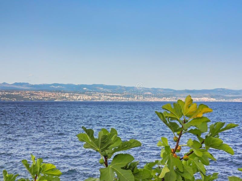 View of Rijeka at the Kvarner Bay, Croatia royalty free stock images