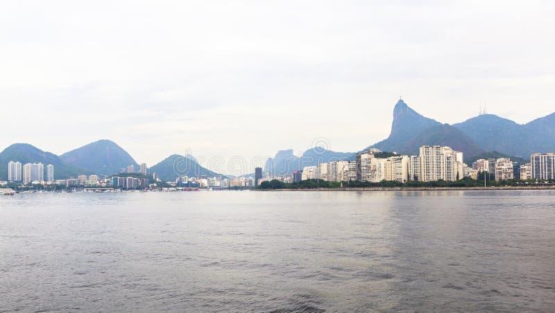 View of Rio de Janeiro city from Guanabara bay, Brazil royalty free stock photos