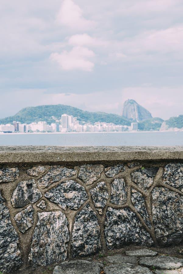 View of Rio de Janeiro with mountain Sugar Loaf stock photos