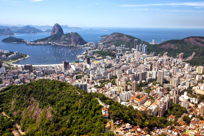 View of the Rio de Janeiro royalty free stock photography