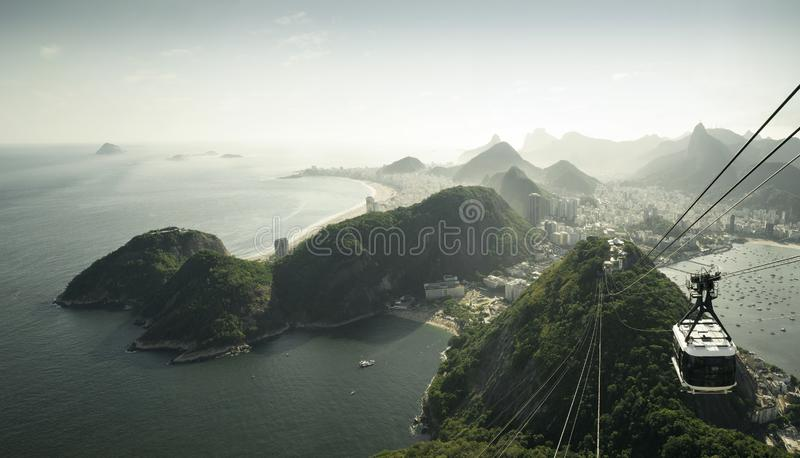 Rio de Janeiro view from Sugarloaf mountain, Brazil stock image