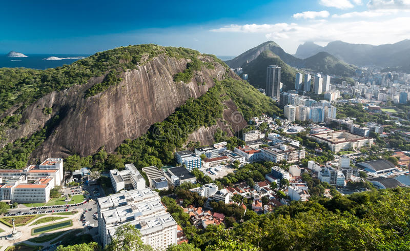 A view on Rio de Janeiro from Urca royalty free stock photography