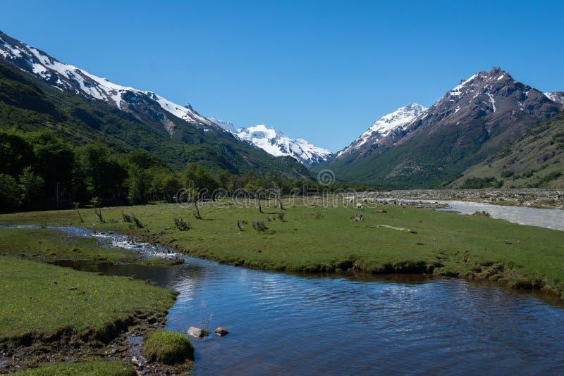 Rio de las Vueltas, El Chalten, Santa Cruz, Argentina. royalty free stock photos
