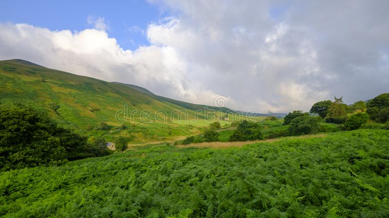 View of the River Ashop in the Snake Valley Pass, Peak District, UK royalty free stock photos