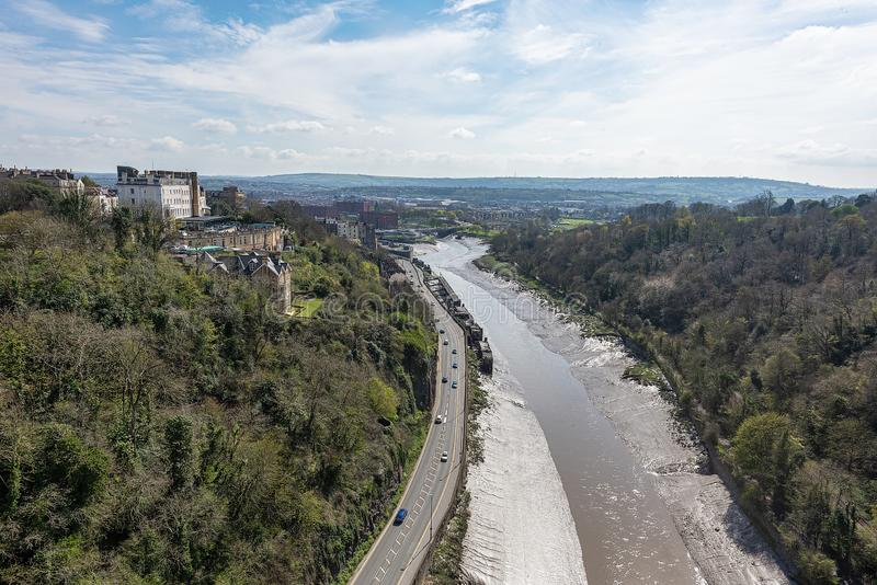 View of the river Avon & Clifton royalty free stock photo