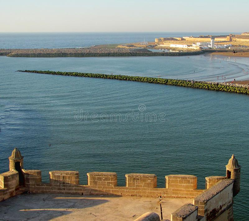 View of River Bou Regreg in Rabat, Morocco.  stock image