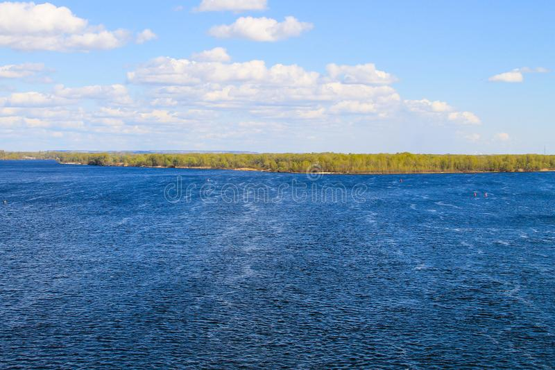 View on the river Dnieper. In Ukraine stock photos