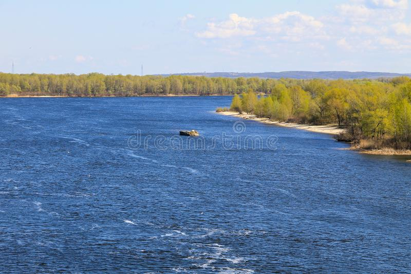 View on the river Dnieper. In Ukraine stock images