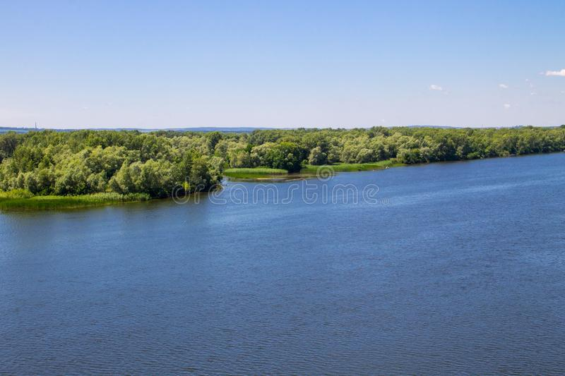 View on the river Dnieper. In Ukraine royalty free stock photography
