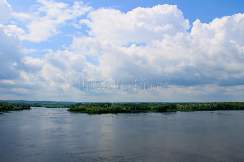 View on the river Dnieper. In Ukraine stock photo