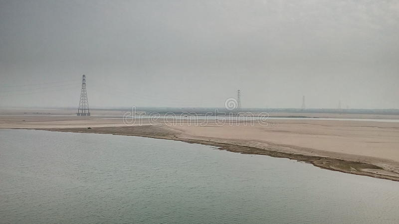 A View Of The River Godavari stock image