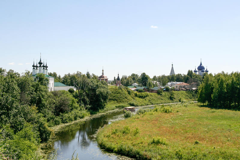 Download View Of The Kamenka River, Russia, Suzdal Stock Photo - Image: 83707466