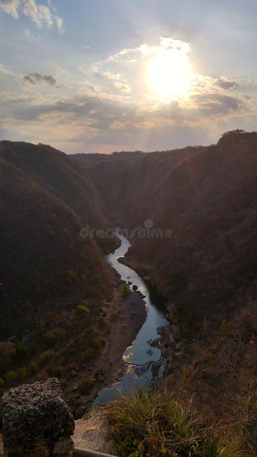 A view of the River, Somoto Canyon, Nicaragua. stock photos