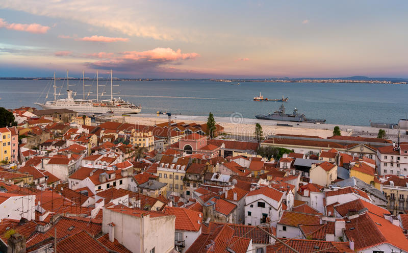 Download View Of The River Tagus In Lisbon, Portugal Stock Photo - Image: 42245600
