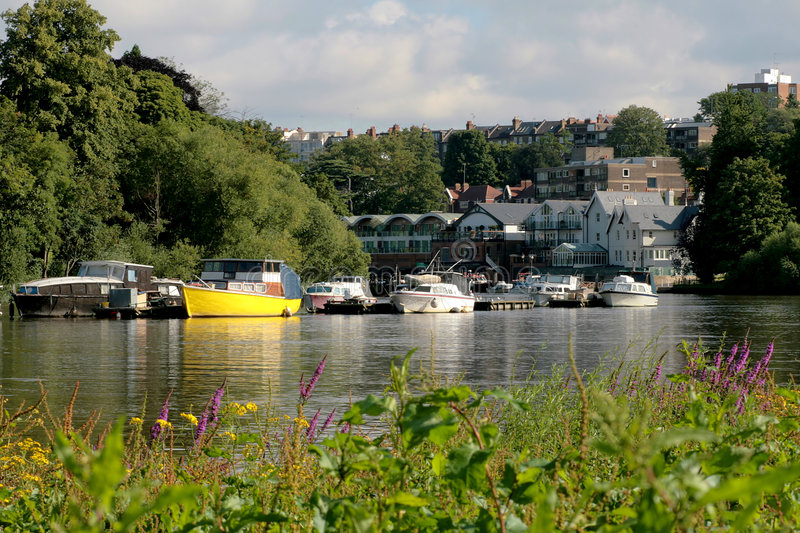 View of River Thames stock image