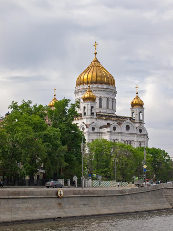Cathedral of Christ the Saviour Moscow royalty free stock image