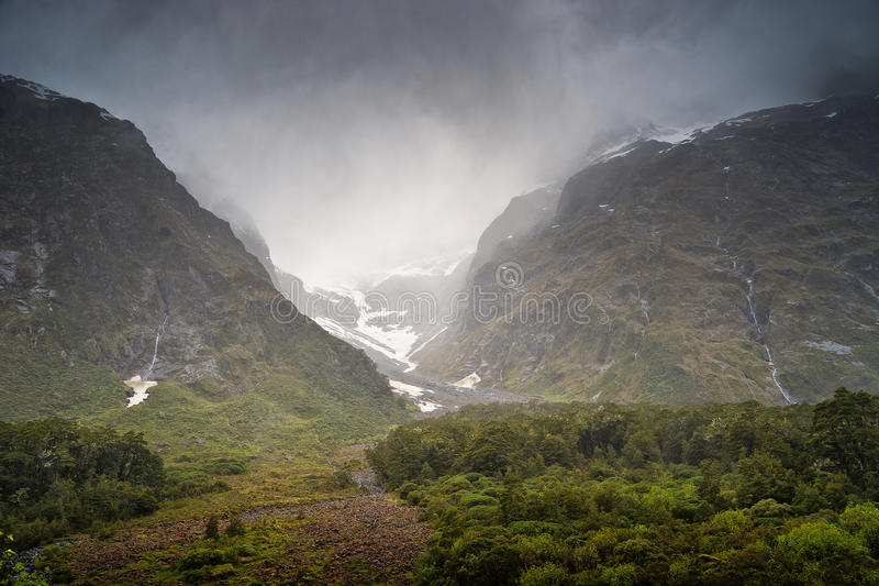 View from the road to Milford Sound royalty free stock image