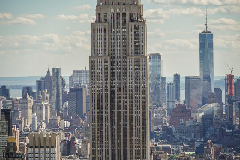 View from Rockefeller Center Top of the Rock Empire State Building. Shooting location : Manhattan, New York royalty free stock image