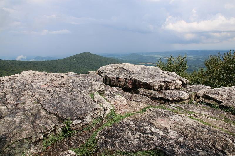 View From Rocks of Mountains. Photo by Rob Nagy 2018 stock image