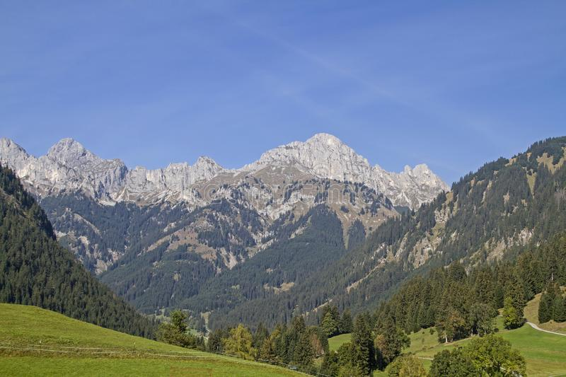 View of the Tannheim mountains royalty free stock photo