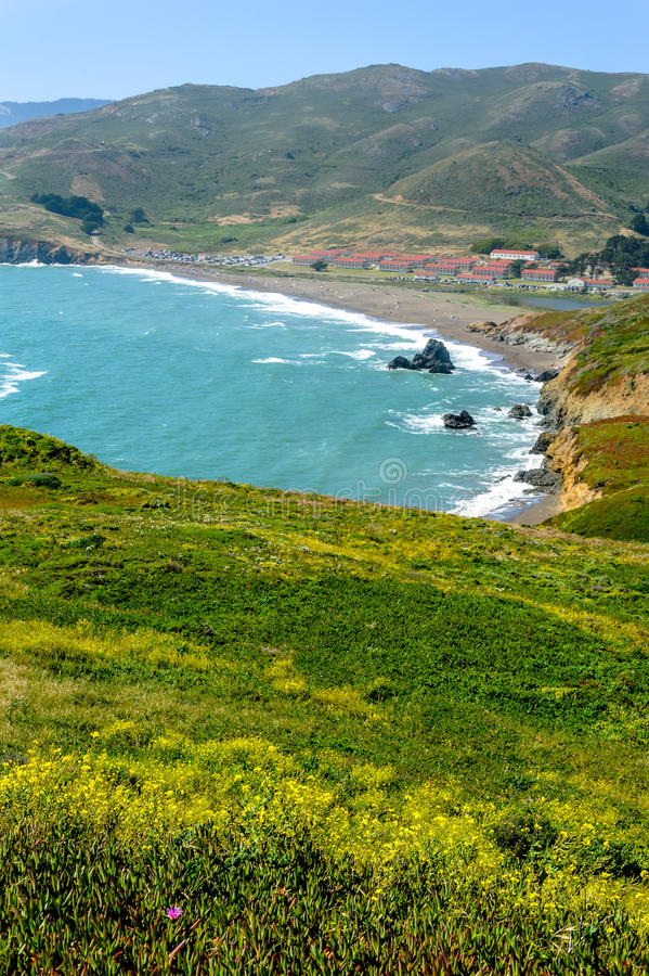 Download View On Rodeo Cove Beach, California, USA Stock Image - Image: 27944167