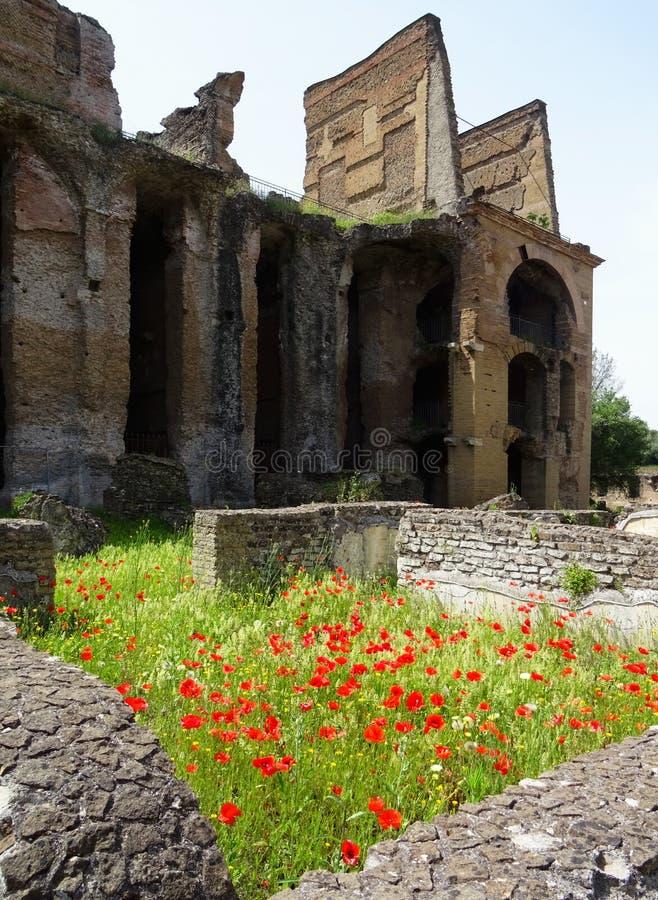UNESCO World Heritage. Vila Adriana. Italy. View of the roman ruins during spring time. Vila Adriana. Tivoli. Roma. Italy stock images