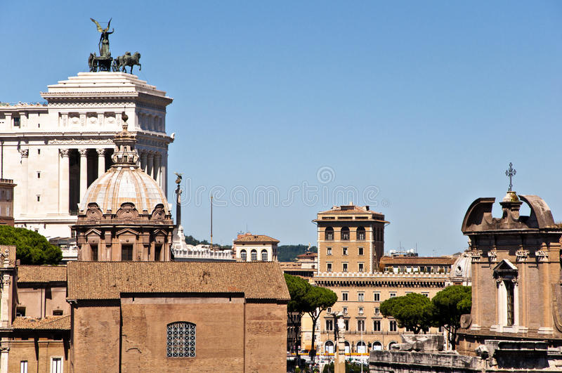 Download A view of Rome stock photo. Image of forum, pietro, center - 15959458
