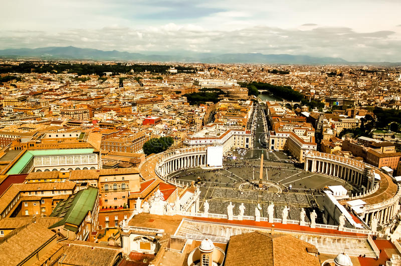 Download View of Rome stock photo. Image of peters, dome, circle - 27740580