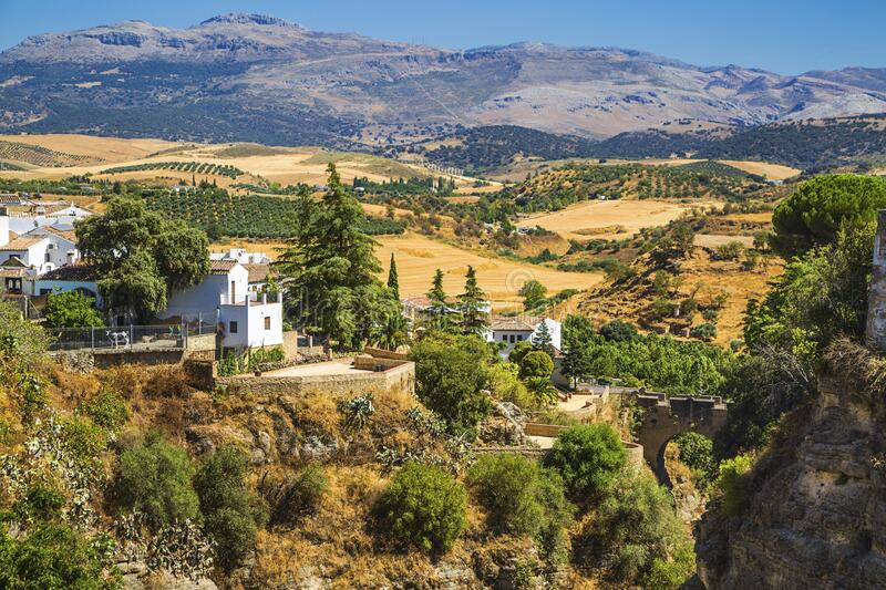 View from Ronda, Spain royalty free stock photo