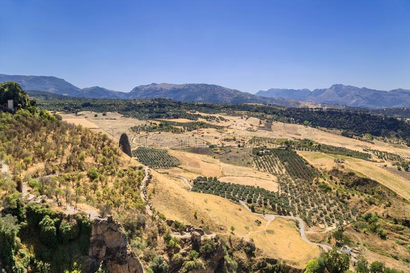 View from Ronda, Spain stock photos