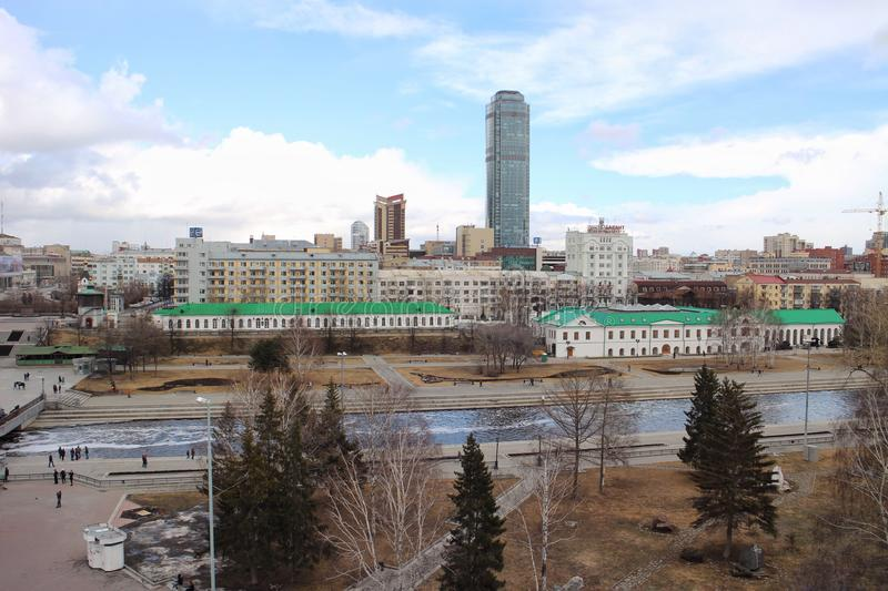 View from roof Ekaterinburg stock image