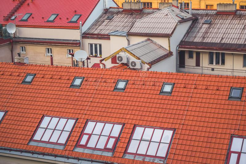 View of roofs, Prague stock photography