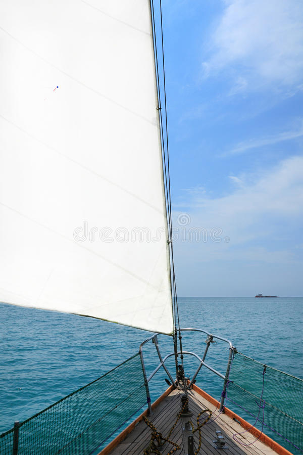 Download View from rostrum stock photo. Image of stem, sail, sailing - 20503676