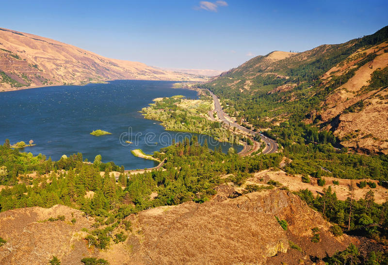 Download A View From Rowena Crest Overlook Stock Image - Image: 25883313