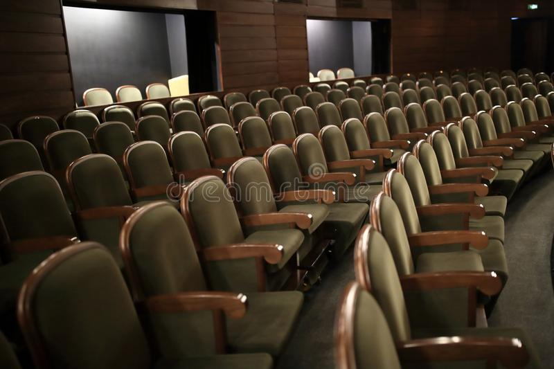 View rows of seats royalty free stock photo