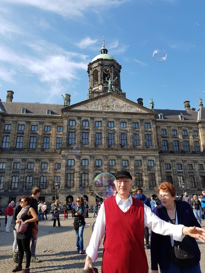 Royal palace of Amsterdam. View of the Royal palace of Amsterdam royalty free stock photos
