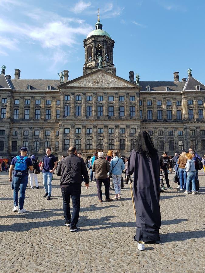 Royal palace of Amsterdam. View of the Royal palace of Amsterdam and Dam Square royalty free stock photography