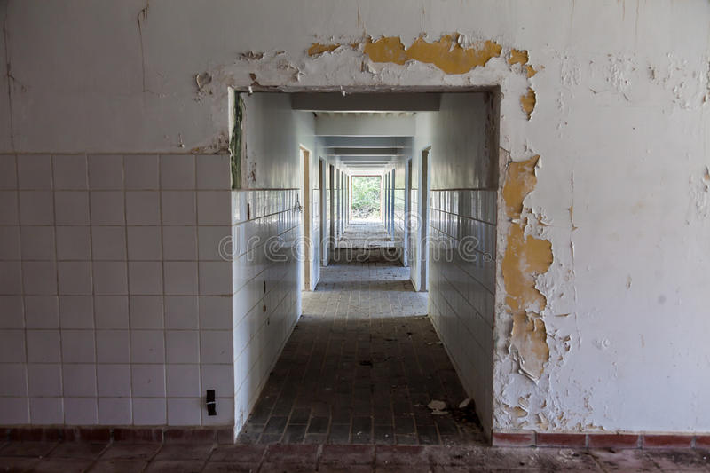 View of a ruined room stock image