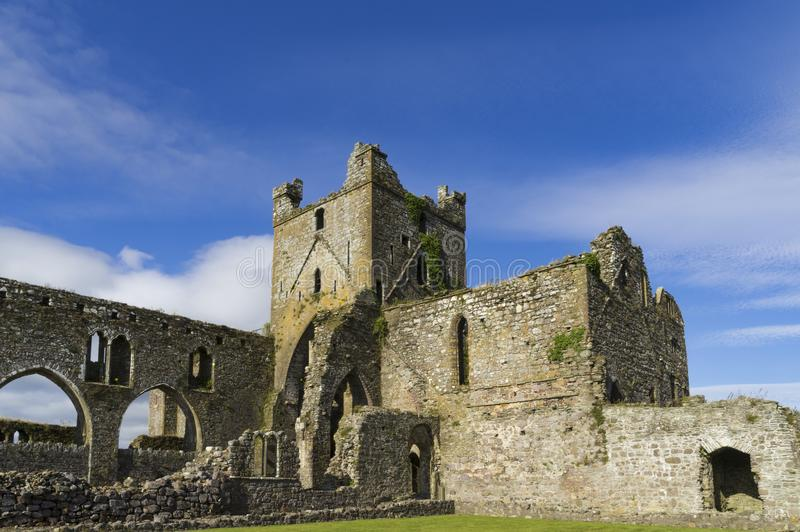 View of the ruins of the former Dunbrody Abbey royalty free stock photo