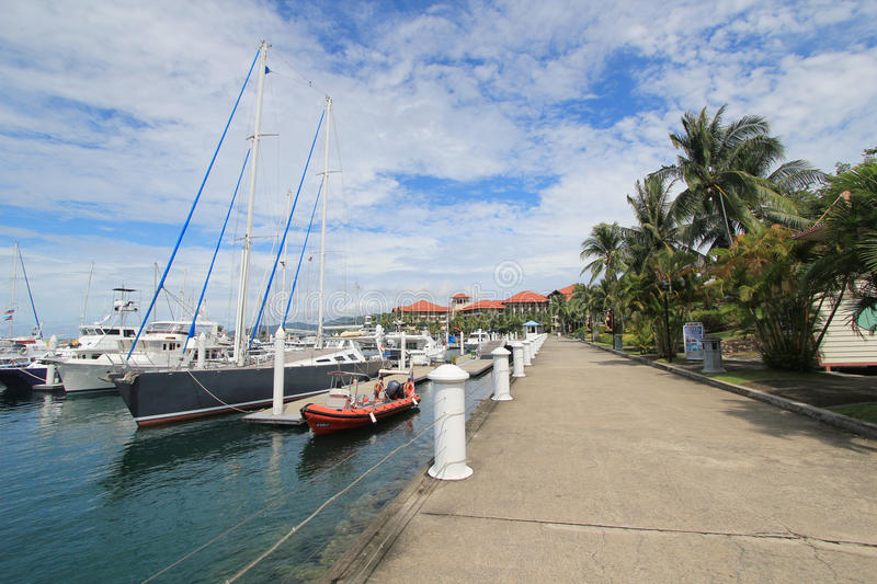 View in Sabah in Malaysia. Street view in Sabah, Malaysia. Sabah is Malaysia's easternmost state, one of two Malaysian states on the island of Borneo. It is also royalty free stock photo