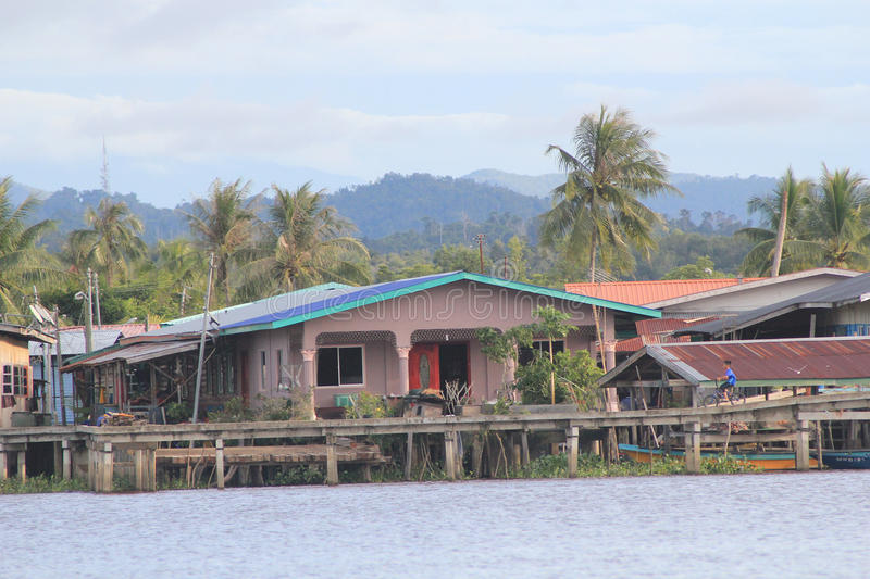 View in Sabah in Malaysia. Street view in Sabah, Malaysia. Sabah is Malaysia's easternmost state, one of two Malaysian states on the island of Borneo. It is also royalty free stock photography