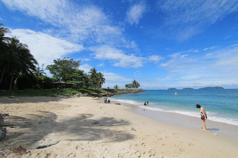 View in Sabah in Malaysia. Street view in Sabah, Malaysia. Sabah is Malaysia's easternmost state, one of two Malaysian states on the island of Borneo. It is also stock image