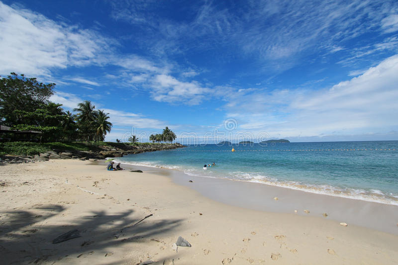 View in Sabah, Malaysia. Street view in Sabah, Malaysia. Sabah is Malaysia's easternmost state, one of two Malaysian states on the island of Borneo. It is also stock photo