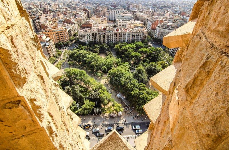 View from Sagrada Familia royalty free stock image