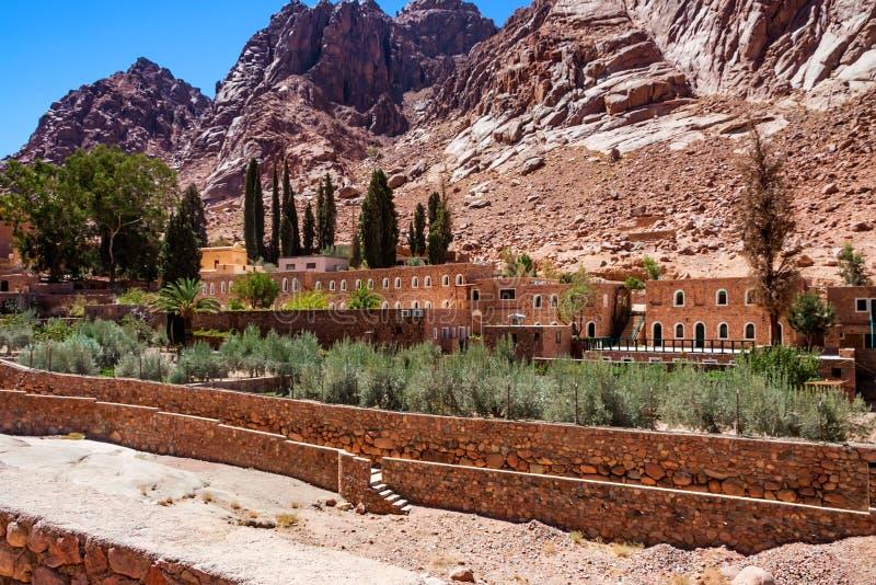 View of Saint Catherine`s Monastery, Sinai, Egypt stock photos