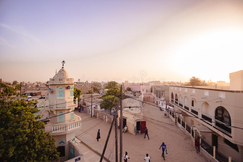 A view of Saint Louis in Senegal, Africa stock image